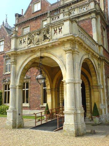 Front door of Sandringham House